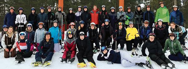 Gruppenfoto der Ski-AG